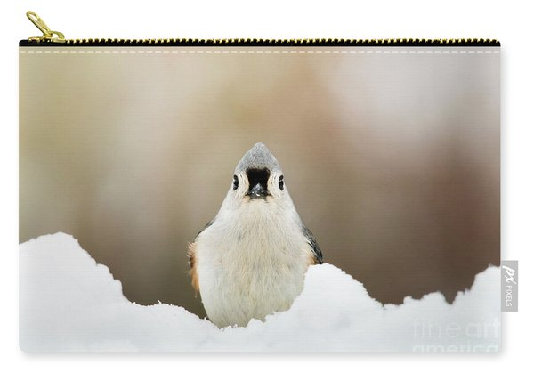 Tufted Titmouse In Snow Carry-all Pouch