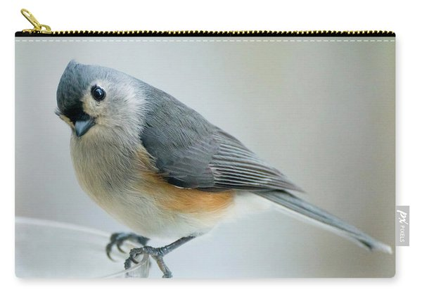 Titmouse With Walnuts Carry-all Pouch