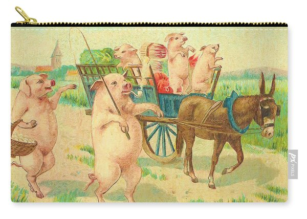 To Market To Market To Buy A Fat Pig 86 - Painting Carry-all Pouch