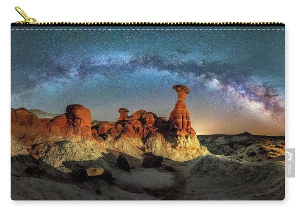 Toadstool Milky Way Pano Carry-all Pouch