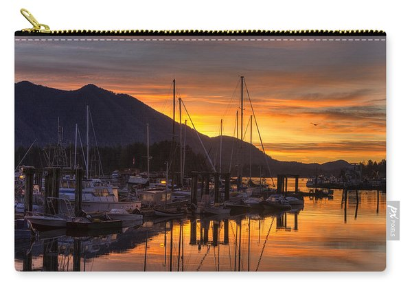 Tofino Docks Sunrise - A Tribute Carry-all Pouch