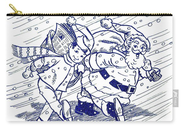 Together With Santa Carry-all Pouch