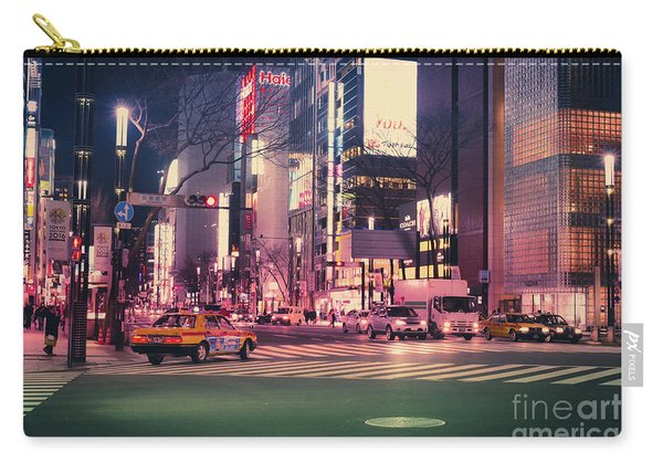 Tokyo Street At Night, Japan 2 Carry-all Pouch