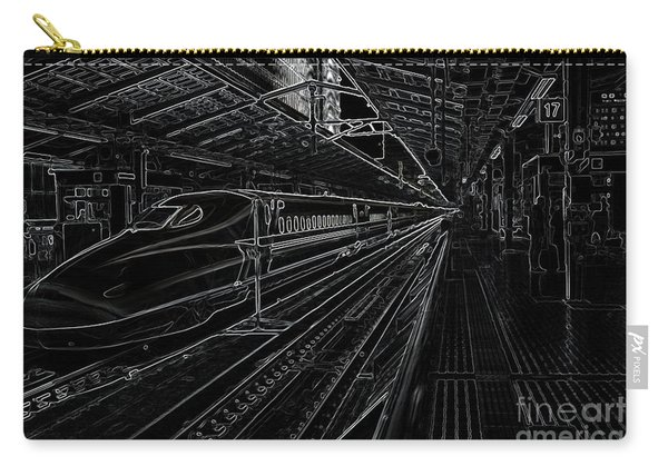 Tokyo To Kyoto, Bullet Train, Japan Negative Carry-all Pouch