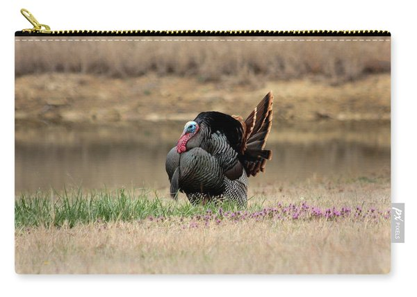 Tom Turkey At Pond Carry-all Pouch