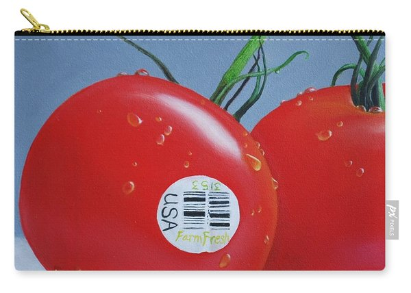 Tomatoes With Sticker Carry-all Pouch