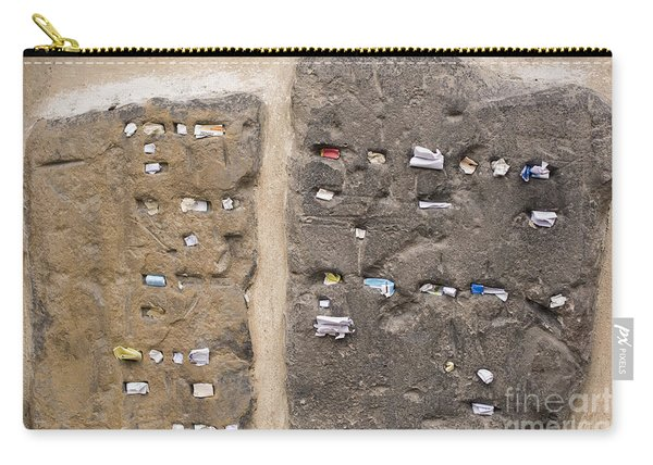 Tombstone Wall In Old Jewish Cemetery. Prague Carry-all Pouch