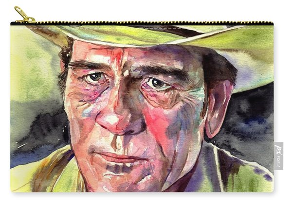 Tommy Lee Jones Portrait Watercolor Carry-all Pouch