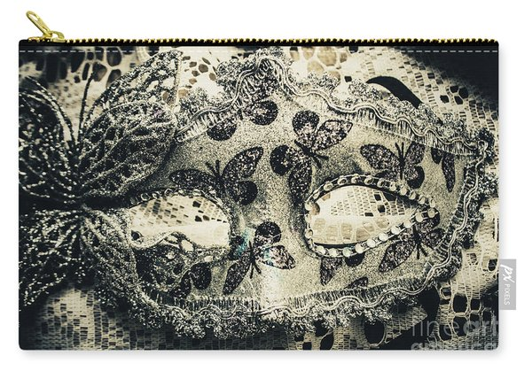 Toned Image Of Beautiful Festive Venetian Mask Carry-all Pouch