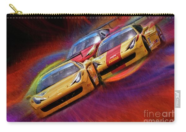 Tony Ferraro Leads Mike Louli And Keith Larson Ferrari Challenge 458 Carry-all Pouch