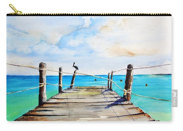 Top Of Old Pier On Playa Paraiso Carry-all Pouch