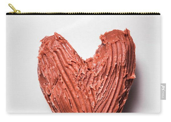 Top View Of Heart Shaped Chocolate Fudge Carry-all Pouch