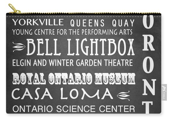 Toronto Famous Landmarks Carry-all Pouch