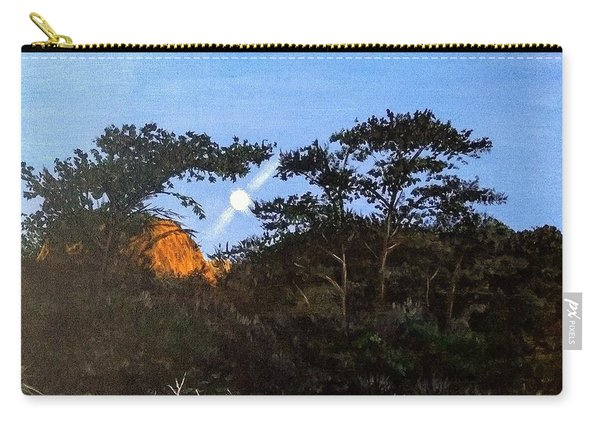 Carry-all Pouch featuring the painting Torrey Pines In The Morning by Kevin Daly