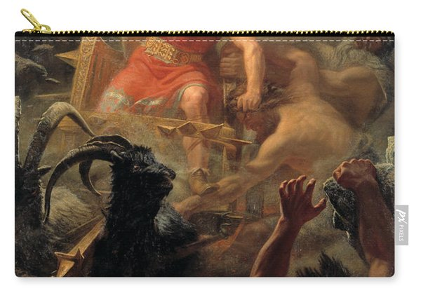 Tor's Fight With The Giants Carry-all Pouch