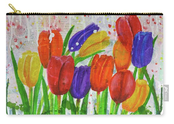 Totally Tulips Carry-all Pouch