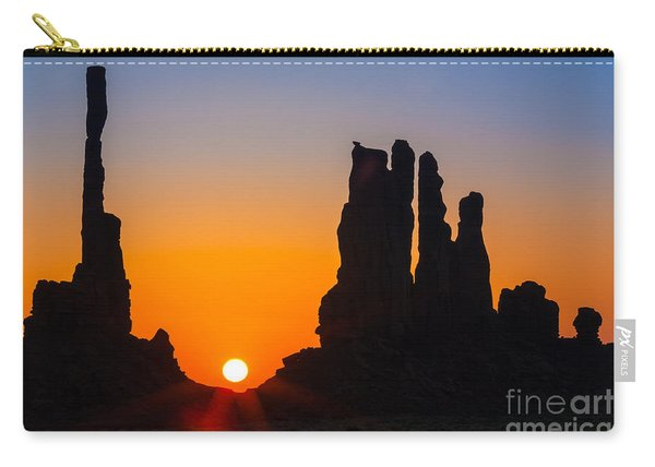 Totem Poles Sunrise Carry-all Pouch