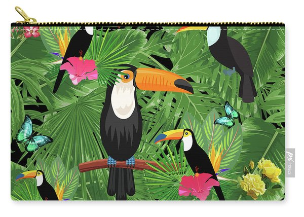 Toucan Tropic  Carry-all Pouch