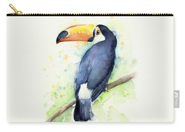 Toucan Watercolor Carry-all Pouch
