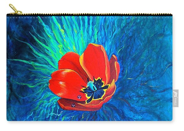 Carry-all Pouch featuring the painting Touched By His Light by Nancy Cupp