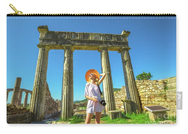Carry-all Pouch featuring the photograph Tourist Traveler Photographer by Benny Marty