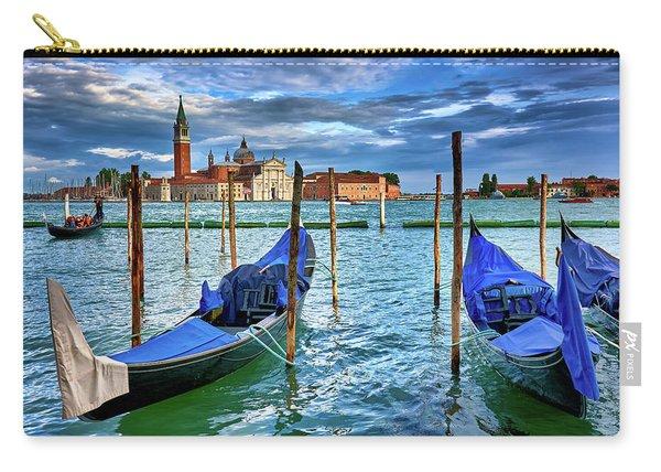 Gondolas And San Giorgio Di Maggiore In Venice, Italy Carry-all Pouch
