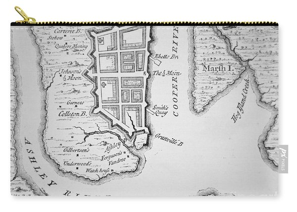 Town And Harbor Of Charleston South Carolina Carry-all Pouch