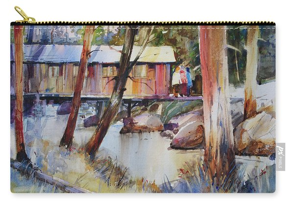 Covered Bridge Over Town Brook Carry-all Pouch