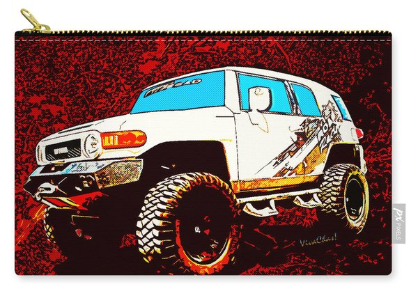 Toyota Fj Cruiser 4x4 Cartoon Panel From Vivachas Carry-all Pouch