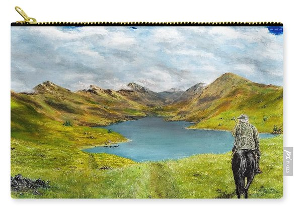 Carry-all Pouch featuring the painting Tracking Niseag by Kevin Daly