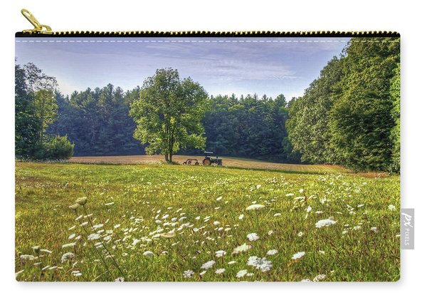 Tractor In Field With Flowers Carry-all Pouch