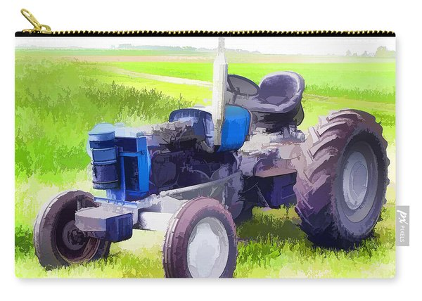 Tractor On The Grass Field Carry-all Pouch