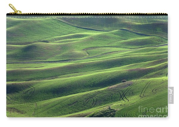 Tractor Tracks Agriculture Art By Kaylyn Franks Carry-all Pouch