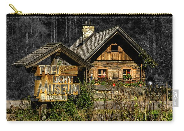 Traditional Austrian Wooden House Carry-all Pouch