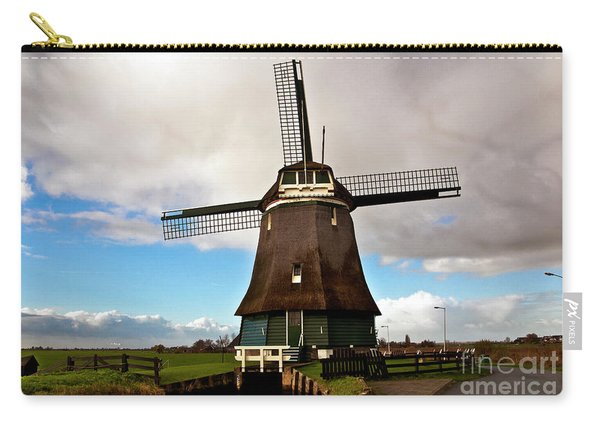 Traditional Dutch Windmill Near Volendam  Carry-all Pouch