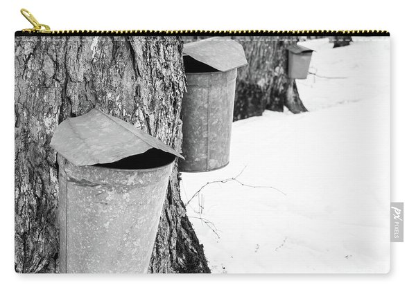 Traditional Maple Sap Collection Galvanized Buckets Vermont Carry-all Pouch