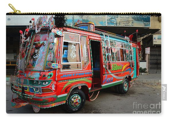 Traditionally Decorated Pakistani Bus Art Karachi Pakistan Carry-all Pouch