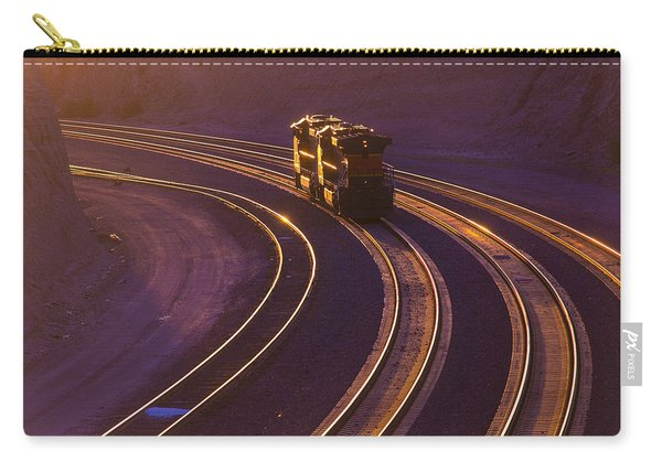 Train At Sunset Carry-all Pouch