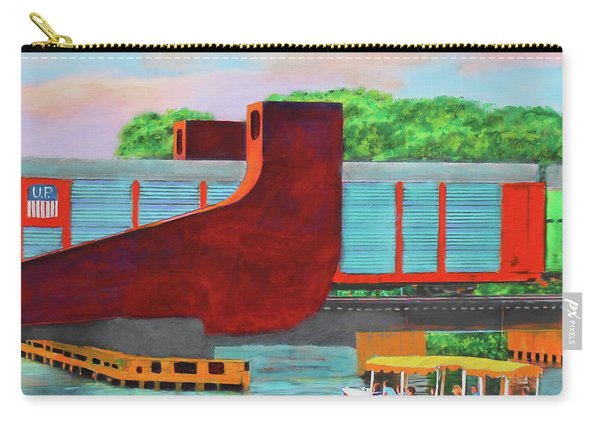 Train Over The New River Carry-all Pouch