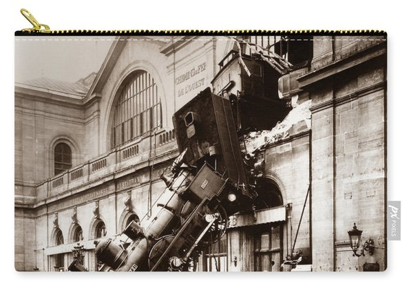 Train Derailment At Montparnasse Station - 1895 Carry-all Pouch