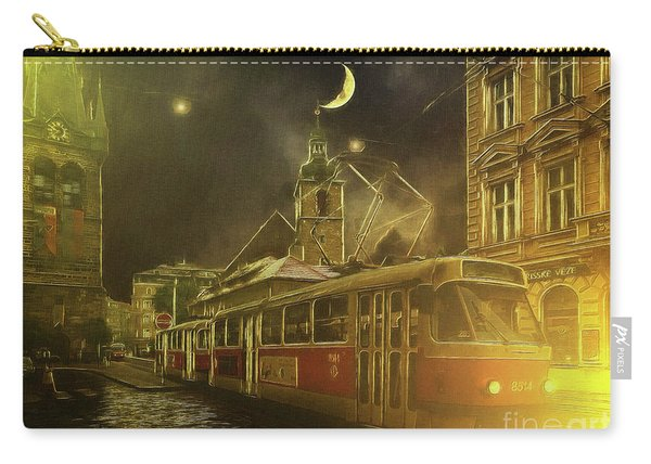 Tramatic - Prague Street Scene Carry-all Pouch