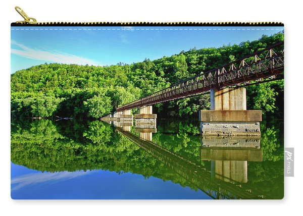 Tranquility At The James River Footbridge Carry-all Pouch