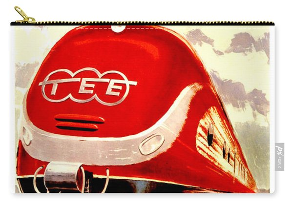 Trans Europ Express Railway,train,vintage Poster Carry-all Pouch