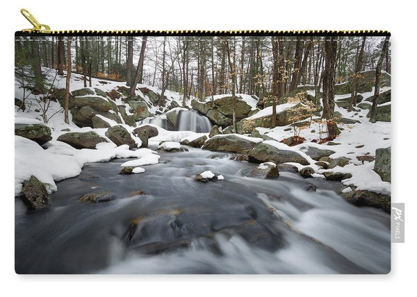 Carry-all Pouch featuring the photograph Trap Falls Winter by Brian Hale