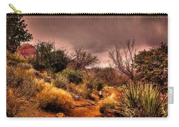 Traveling The Trail At Red Rocks Canyon Carry-all Pouch