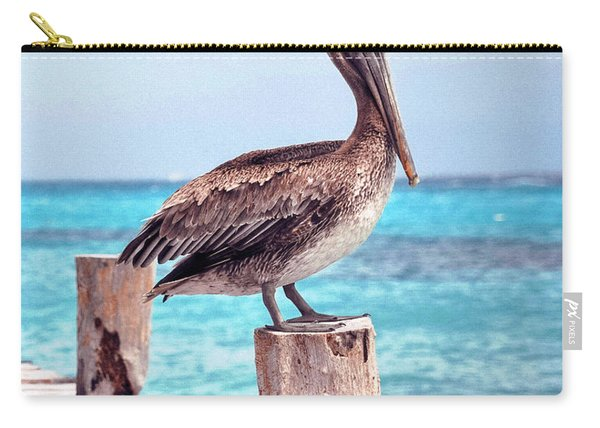 Treasure Coast Pelican Pier Seascape C1 Carry-all Pouch