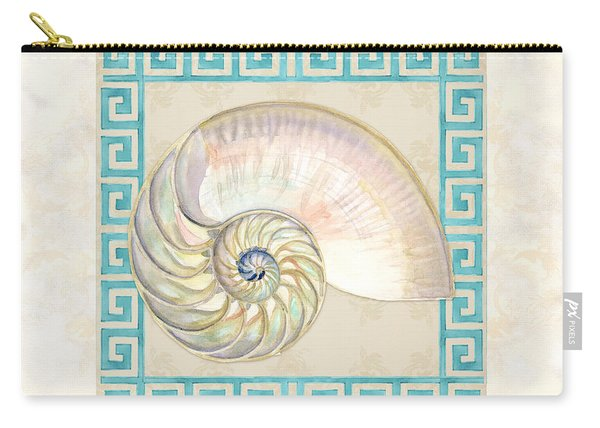 Treasures From The Sea - Nautilus Shell Interior Carry-all Pouch