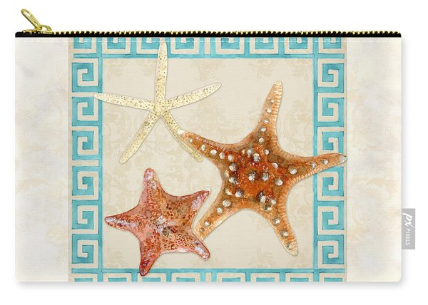 Treasures From The Sea - Starfish Trio Carry-all Pouch