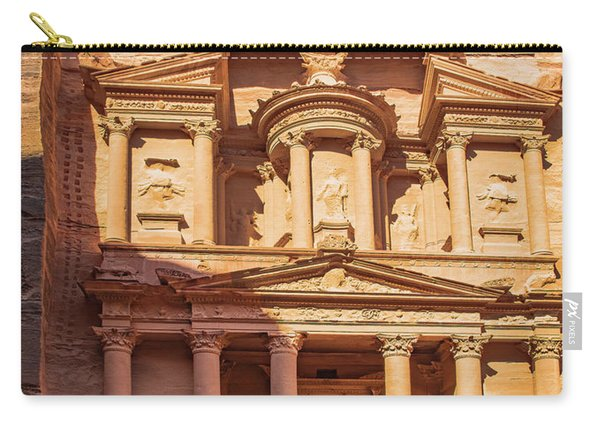 Carry-all Pouch featuring the photograph Treasury Of Petra In Color by Mae Wertz