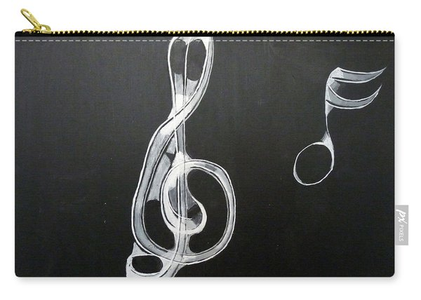 Carry-all Pouch featuring the painting Treble Clef by Richard Le Page